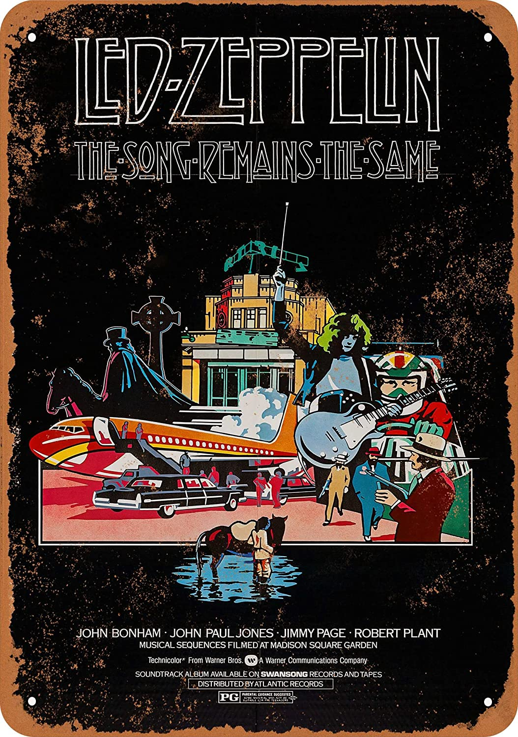 Wall-Color 10 x 14 Metal Sign - 1976 Led Zeppelin The Song Remains The Same - Vintage Look