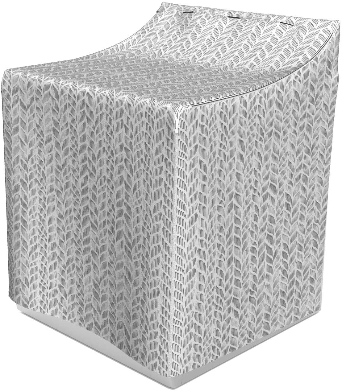 Lunarable Grey Abstract Washer Cover, Norwegian Pattern Traditional Design with a Modern Representation, Suitable for Dryer and Washing Machine, 29