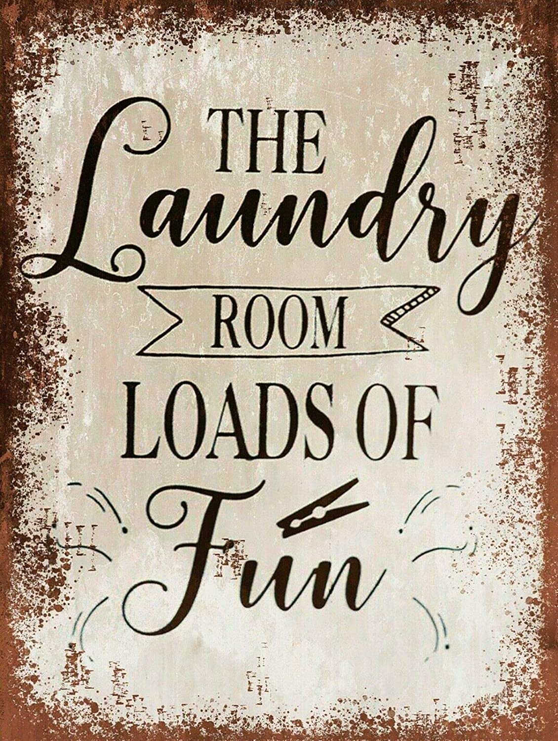 The Laundry Room, Retro Replica Vintage Style Metal Sign Plaque Gift