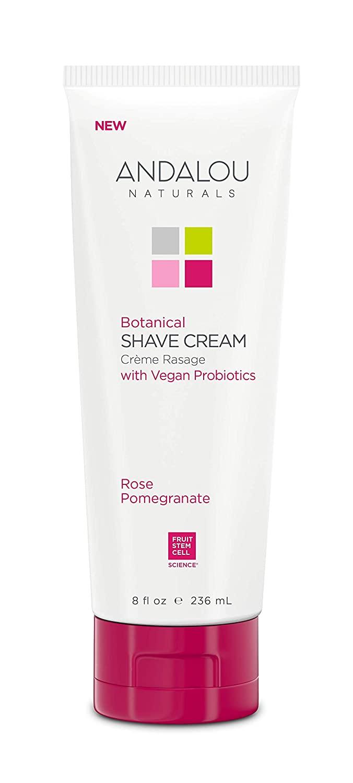 Andalou Naturals Rose Pomegranate botanical shave cream, 8 Ounce