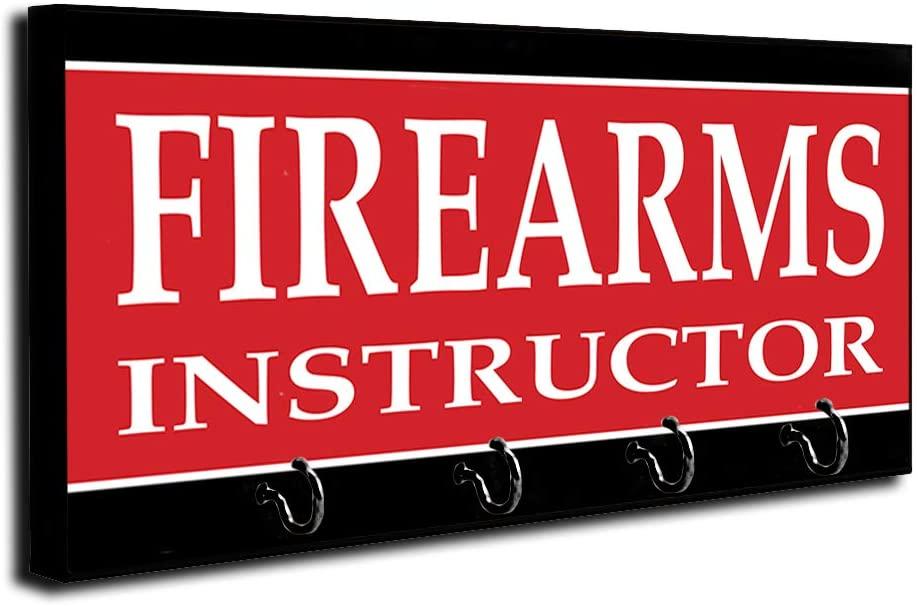 Brotherhood Police Sheriff Firearms Training Firearms Instructor Key Holder Organizer Wall Mount Rack for Holders The Home Keys Ring Decorative Hangers Decor Hook Hanger