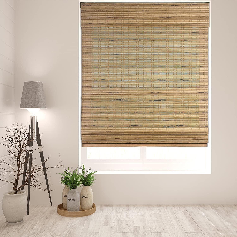 Arlo Blinds Cordless Tuscan Bamboo Roman Shades Blinds - Size: 29.5