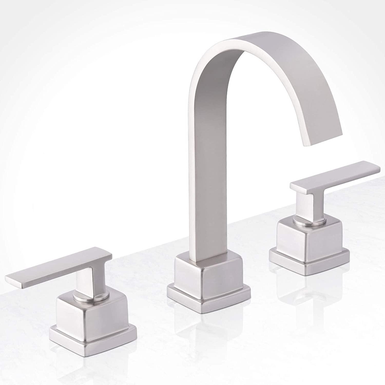 Miseno MNO441BNP Miseno ML441 Modern Widespread Bathroom Faucet - Includes Brass Push-Pop Drain Assembly