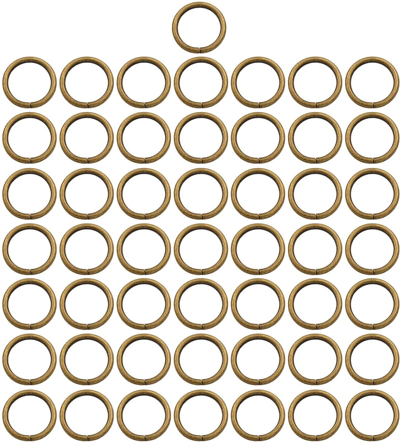 BIKICOCO 4/5'' Metal O-Ring Buckle Connector Round Loops Non Welded for Bags Webbing Purse and Belt Straps, Bronze, Pack of 50