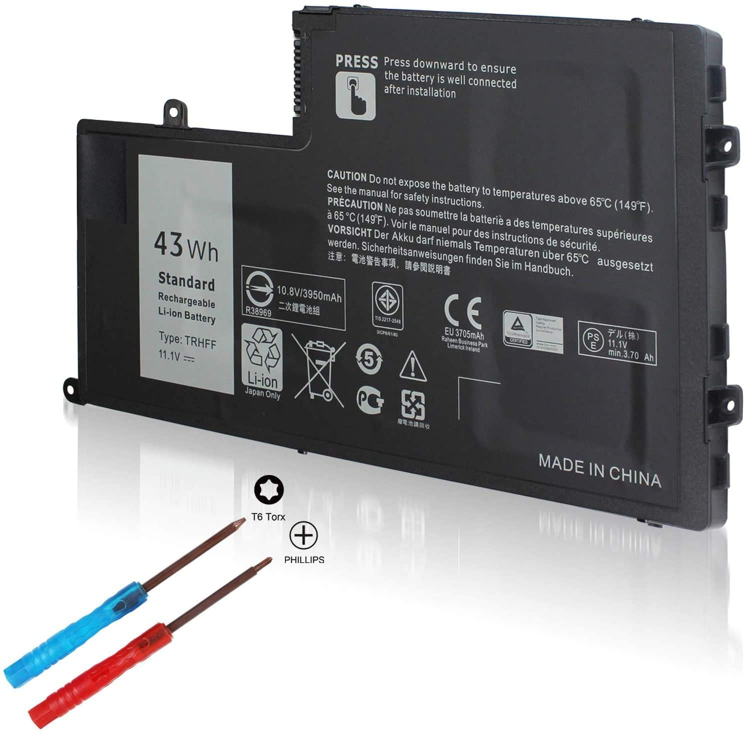 TRHFF 01V2F 1V2F6 11.1V 43Wh Battery Compatible with Dell Inspiron 5547 N5447 15-5548 14 15 5000 5445 5447 5448, Latitude 14 3450 15 3550, fits 1WWHW 0PD19 DFVYN 0DFVYN P39F 58DP4 VVMKC 0VVMKC 5MD4V