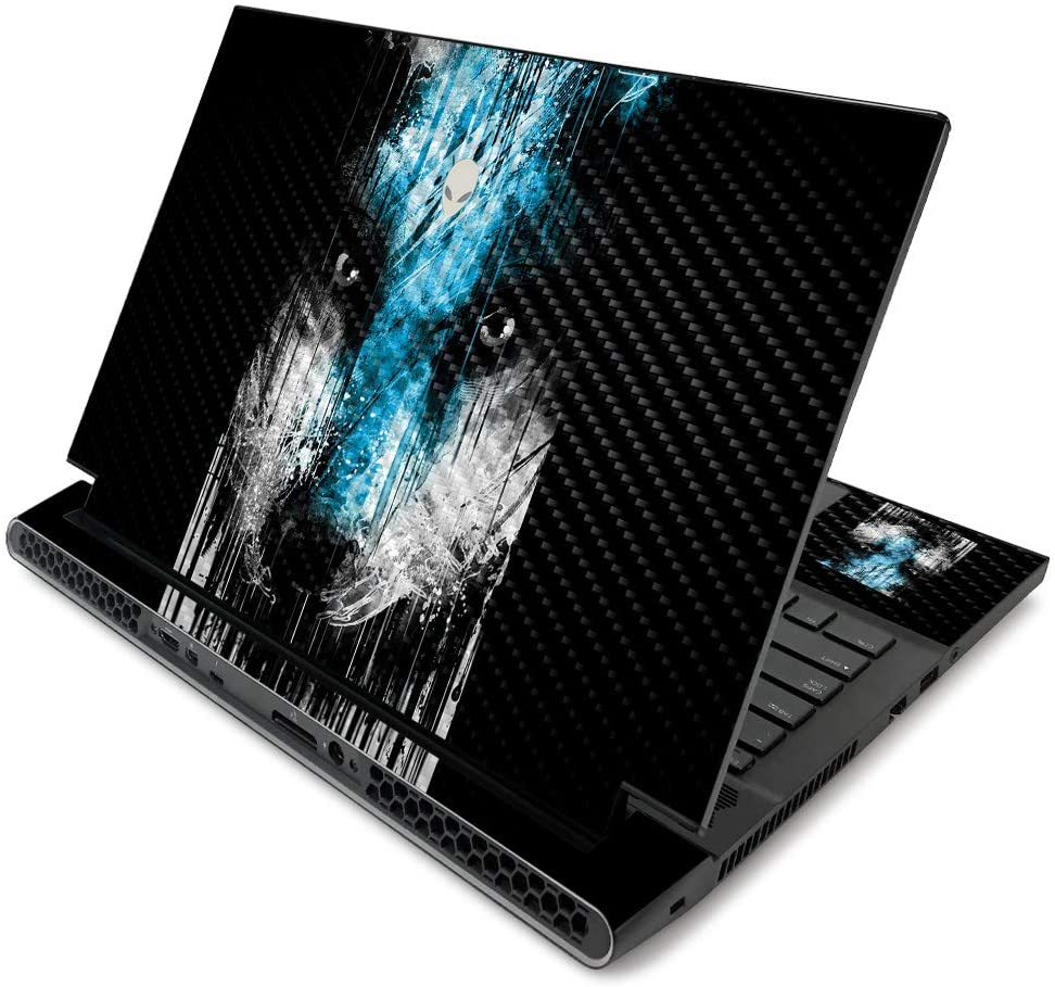 MightySkins Carbon Fiber Skin for Alienware m17 R2 (2019) - Wild Rain   Protective, Durable Textured Carbon Fiber Finish   Easy to Apply, Remove, and Change Styles   Made in The USA