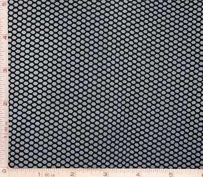 Black Medium Hole Fishnet Fabric 4 Way Stretch Nylon 58-60