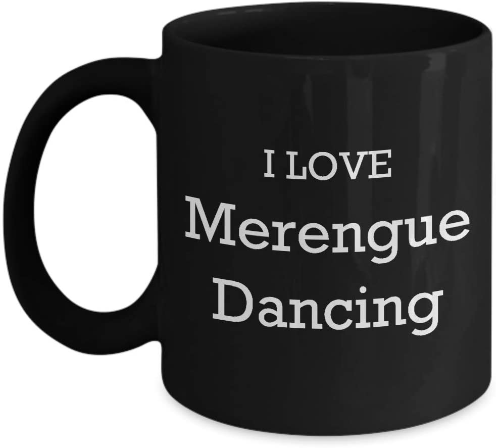 I Love Merengue Dancing Coffee Mug 11oz Enthusiast Lover Novelty Fun Funny Gift Idea Tea Cup For Him Her Black