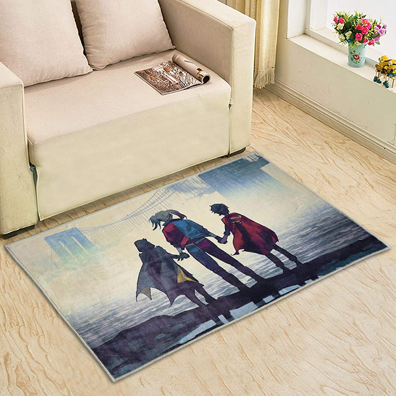 Harley Quinn Rug Soft Area Rugs for Living Room Non-Slip Door Mat Birthday Gifts