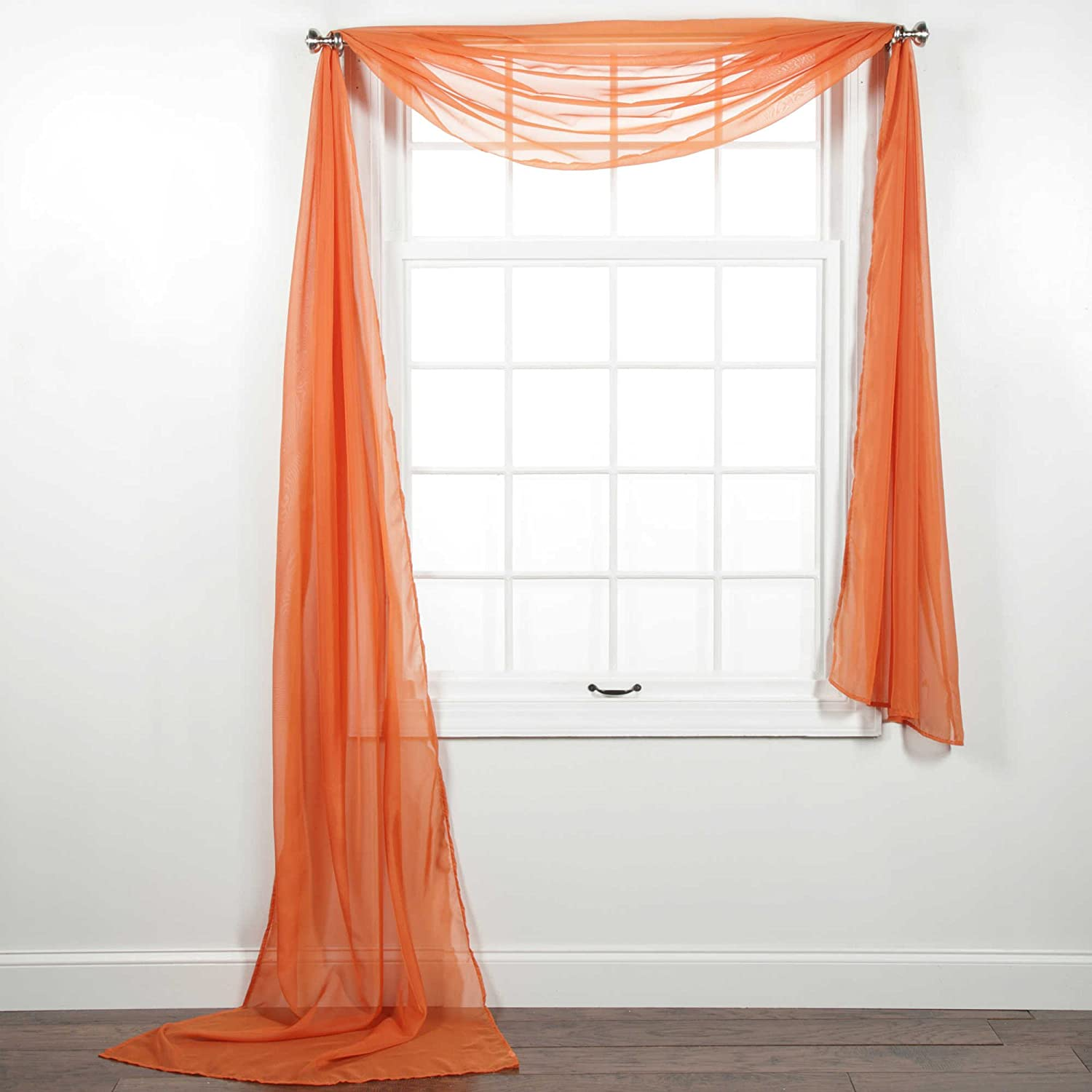 Crawfish 2pc Voile Sheer Curtain Panel Set Rod Pocket Solid Stitched Hemmed Living Room Window Treatment Panels Assorted Decorative Wedding Valance Scarf Scarves Ceremony Colors and Sizes