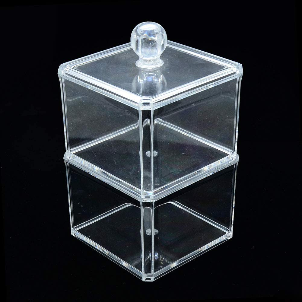 ARRICRAFT 1pc Plastic Cosmetic Storage Display Box Display Stand Makeup Organizer Transparent Cosmetic Beauty Vanity Holder Storage Clear 9x9x16.5cm