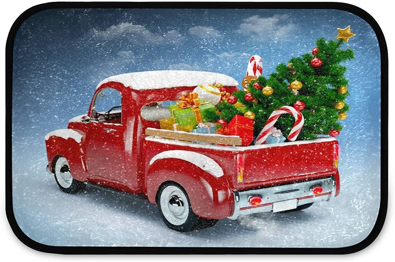 Indoor Rug, Christmas Soft Plush Doormat Non Slip Area Rug for Bathroom Entryway 23.6 x 15.7 Inch