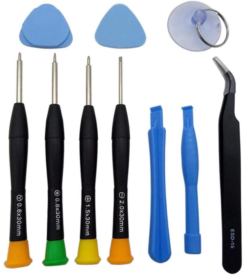 Voyoo Computer Tool Kit Repair Cleaning Plastic Pry -Repair Tools Kit 9-in-1 Disassemble Tools Set for -Repair Most Phones Laptops Glasses