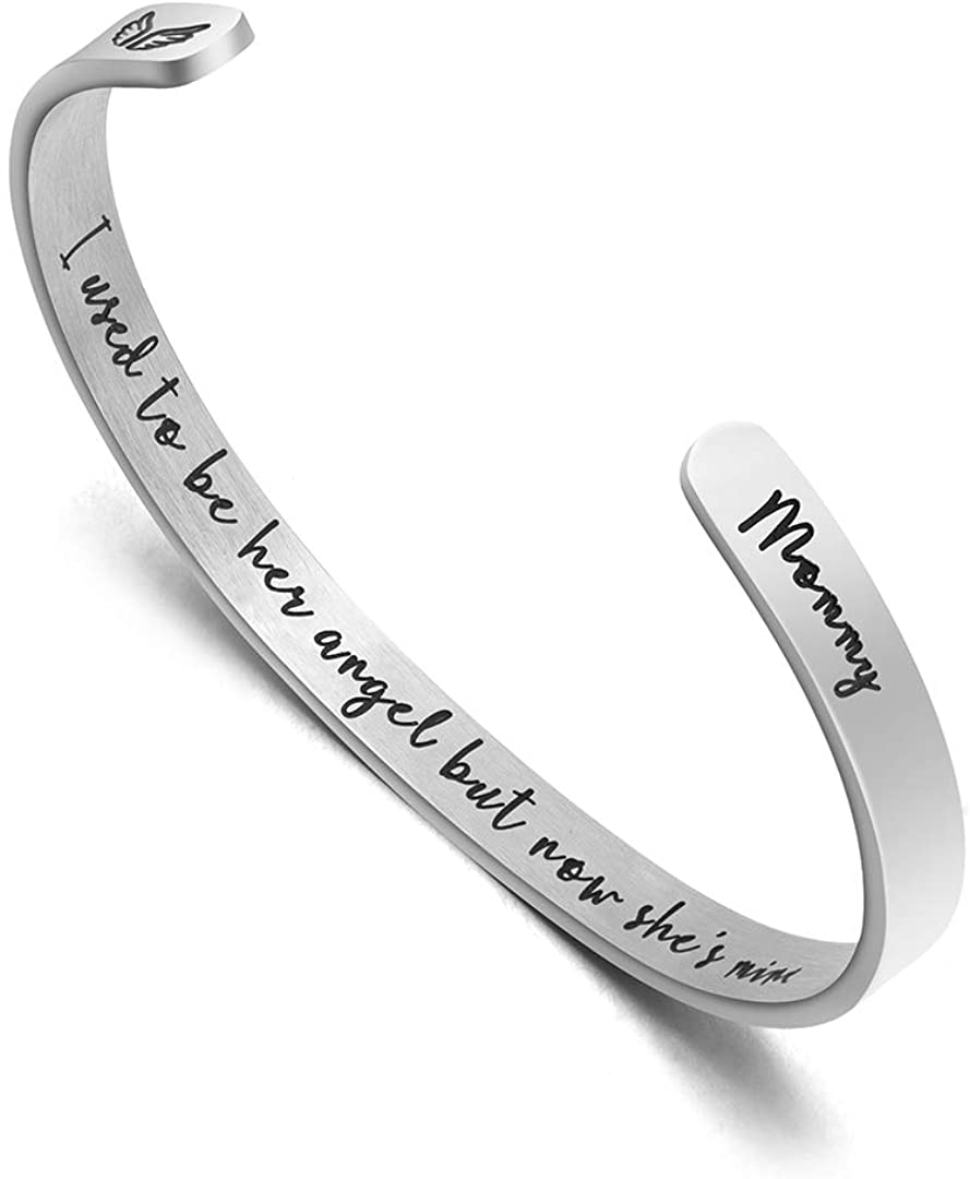 Joycuff Sympathy Gift for Loss of One Dad Mom Memorial Jewelry Gifts for Women Remembrance Gifts for Her