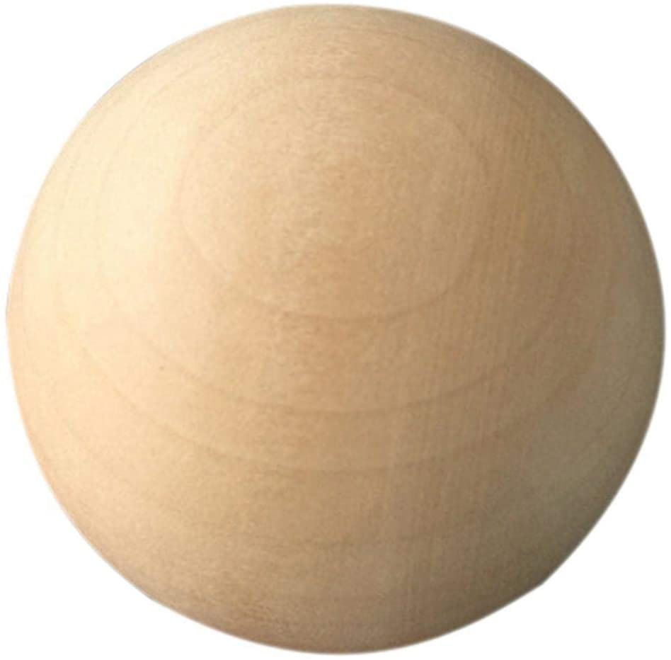 isilky Natural Round Wood Ball, Round Wood Unfinished for DIY Jewelry Making, Wood Craft Balls for Art Design