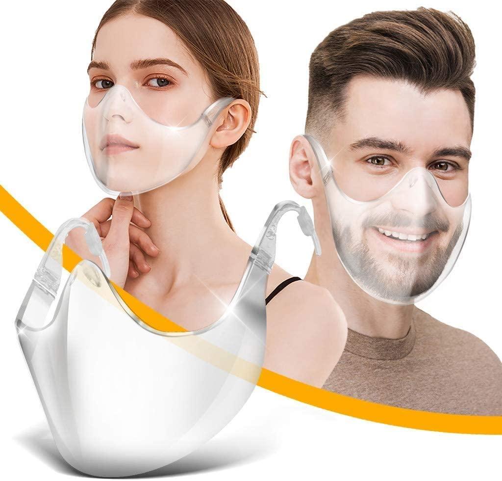 Adults Clear Face_Shields Transparent Anti Fog Shields Durable Plastic Reusable Glasses Designed Shields Lightweight Face Covering for Men Women (2pack)