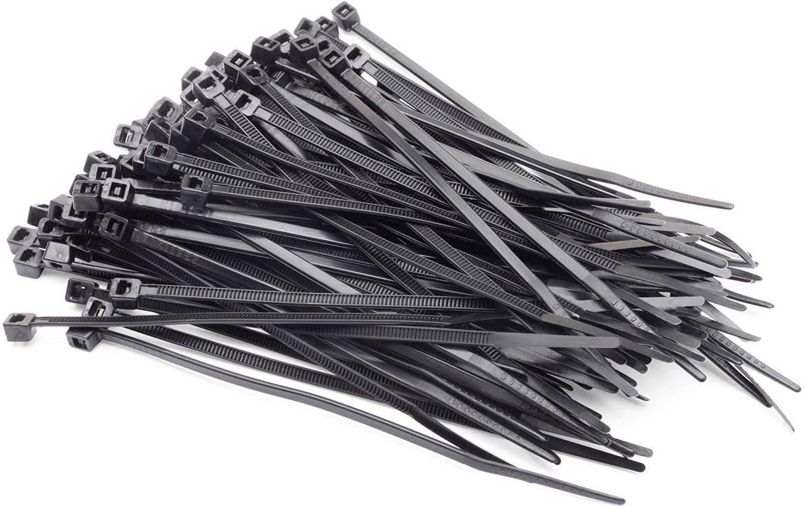 Eastwood 4 Inch Black Cable Zip Nylon Ties 100 Pack for Interiors and Plumbing