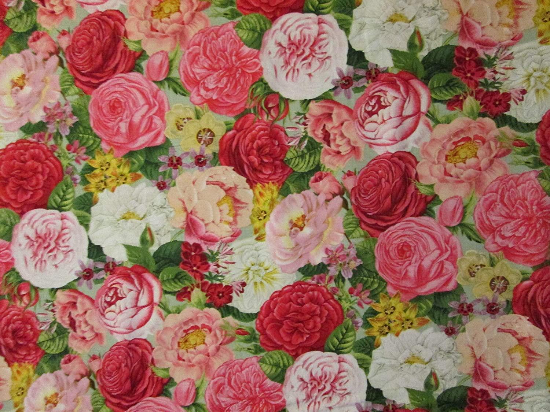 Quality Fabric France Roses Pink Girl Soft Length/Amount: Fat Quarters, Bundles Color: Multi-Color Material: 100% Cotton