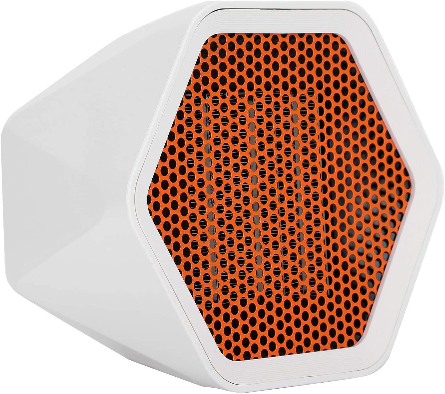 Dpofirs 1000W Mini Powerful Desktop Home Heater, Noiseless Electric Fan Heater for Winter, 3 Seconds Fast Heat Up, Personal Space Ceramic Heater(1000W)