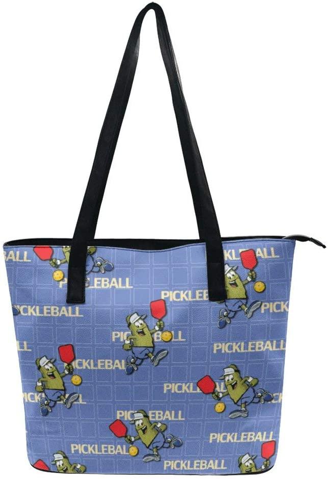 NiYoung Women Fashion Tote Bag, Lightweight Waterproof Handbag Shoulder Bag Large Capacity Bag for Business School Travel (Pickleball)