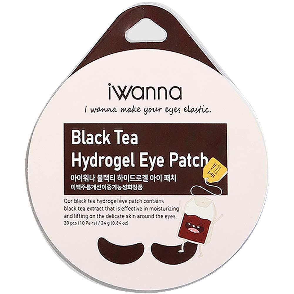 [iwanna] Hydrogel Eye Patch Whitening and Anti-Wrinkle Patch Nourishing and Moisturizing Black Tea Moisturizing & Vitalizing Cactus Lifting and Glow Black Tea