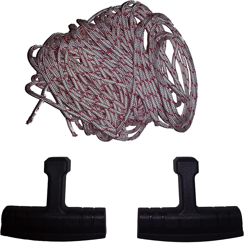 Yaciw 3.0mm Diameter Husqvarna Recoil Starter Rope (10 Meters) and Starter Handle Pull Cord 3 Piece Bundle