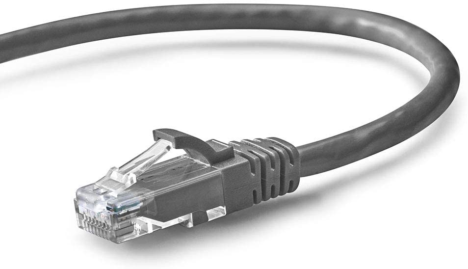 NavePoint Cat6 UTP Ethernet Network Patch Cable UL Listed, 1 FT, 10 Gbps, 250MHz, Strain Relief Boots, Snagless, Gray, 10-Pack