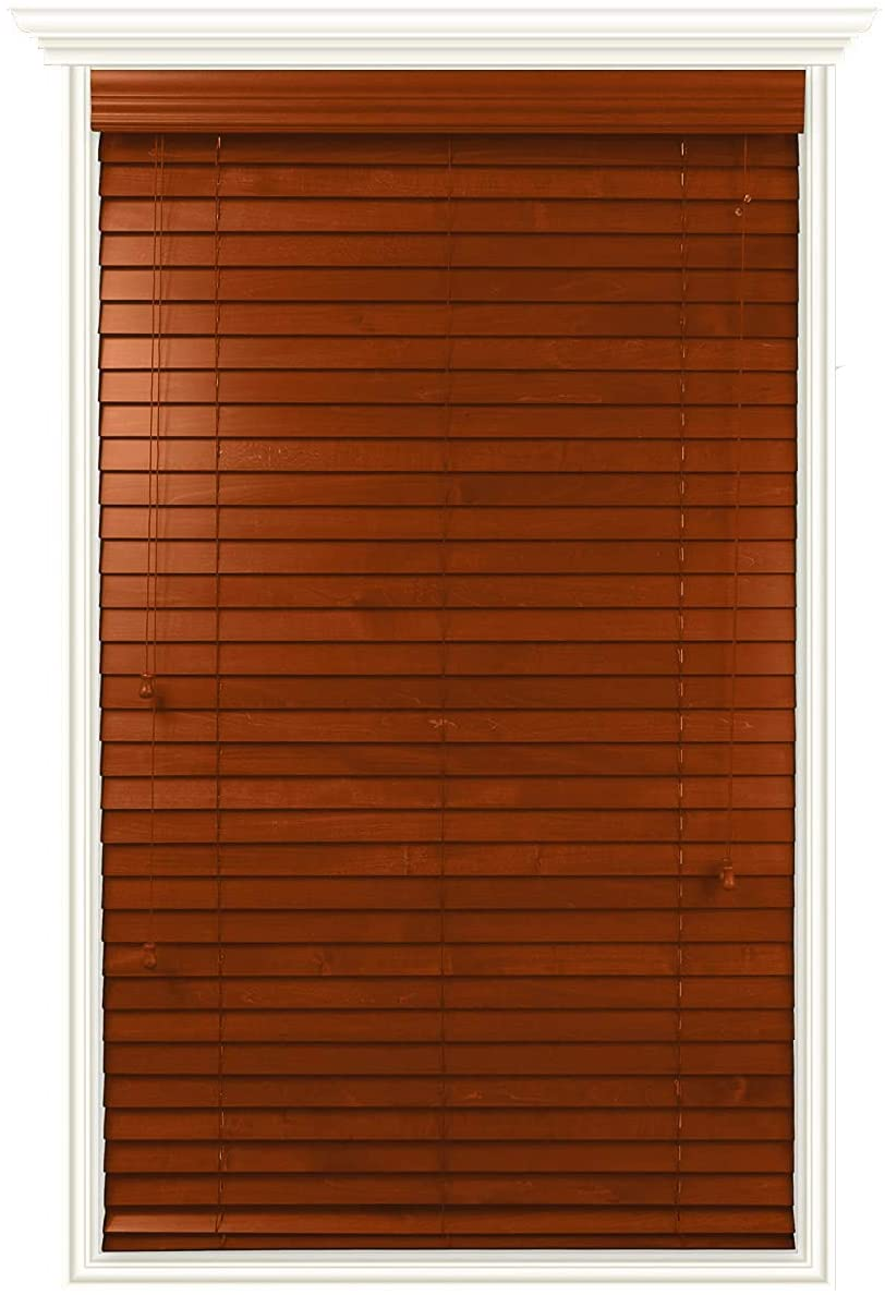 Luxr Blinds Custom-Made Real Wood Horizontal Window Blinds - 39