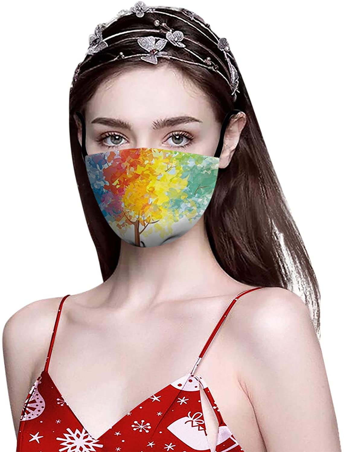 Giveyo [Ships from USA] Happy Thankful Grateful Blessed Thanksgiving Face_mask, Adult Printing Windproof Anti-spitting Breathable Reusable Washable Mouth Covering, Thanksgiving Best Gift (A3:1pc)