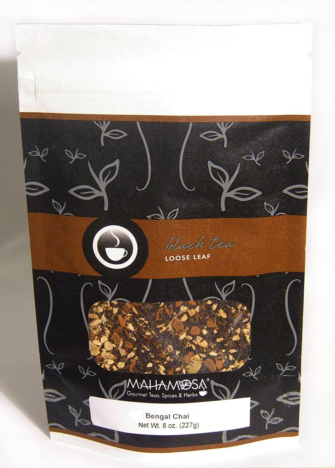 Mahamosa Black Chai Tea Loose Leaf (Looseleaf) - Bengal Chai 8 oz