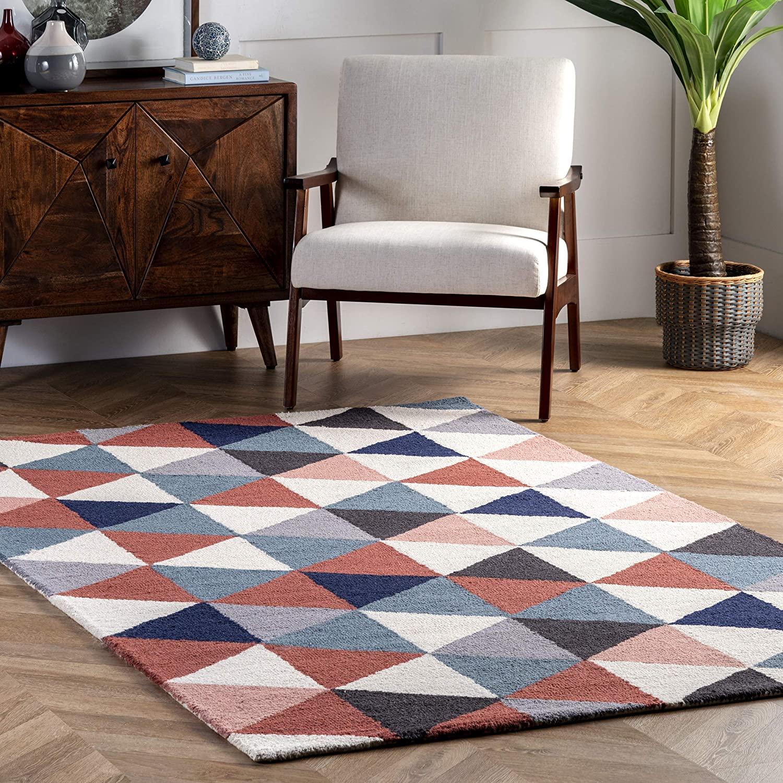 nuLOOM Bianca Triangles Wool Area Rug, 3' x 5', Multi