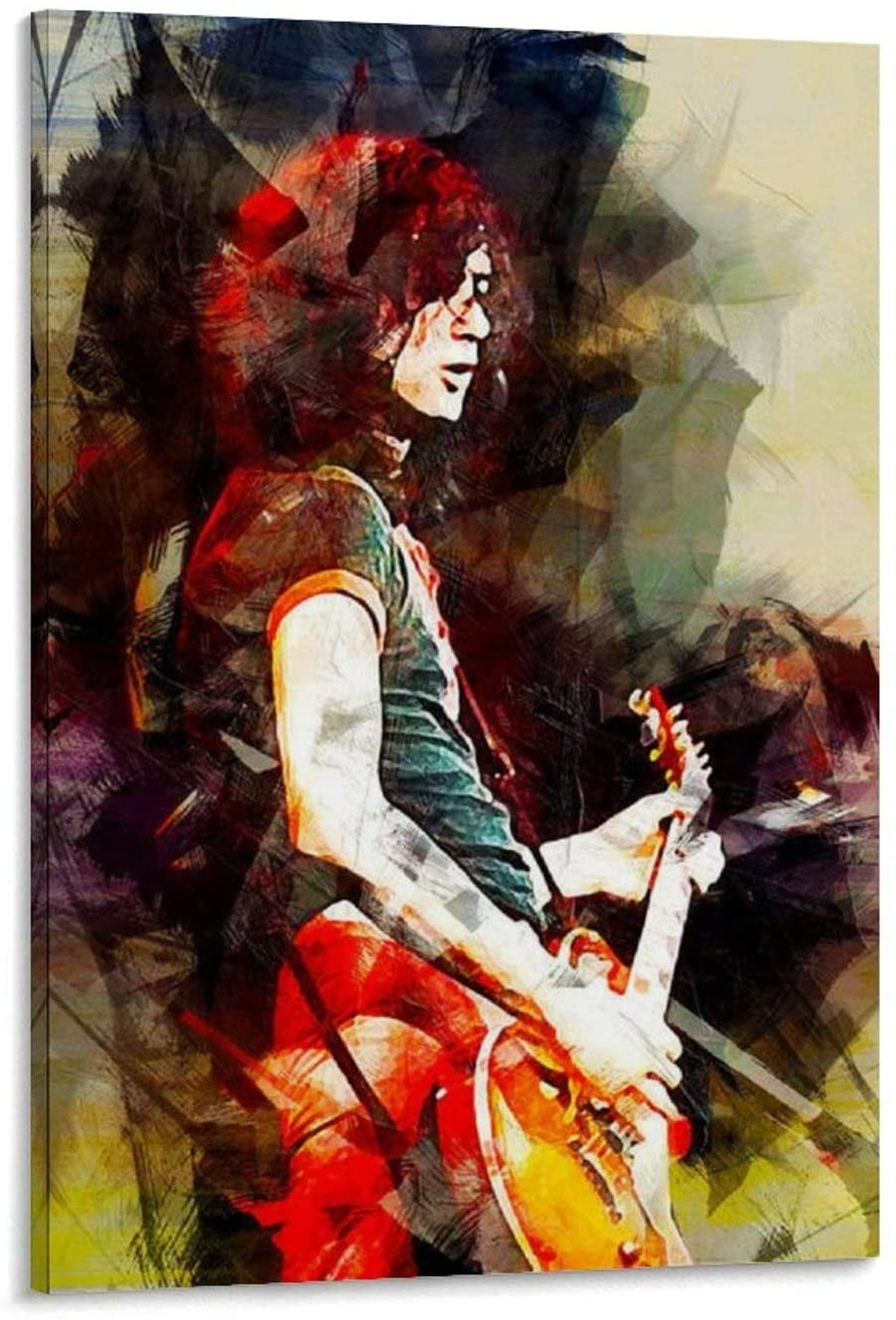 caomei Jimmy Page. Led Zeppelin. Art Print. Poster Decorative Painting Canvas Wall Art Living Room Posters Bedroom Painting 24x36inch(60x90cm)