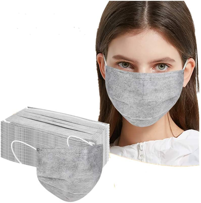 Wendeyipi 50 Pcs Disposable Cover Oral Protection 3-ply Filter Unisex Against Dustproof Cover, High Filtration and Ventilation Security (One Size, (Gray(50pcs))
