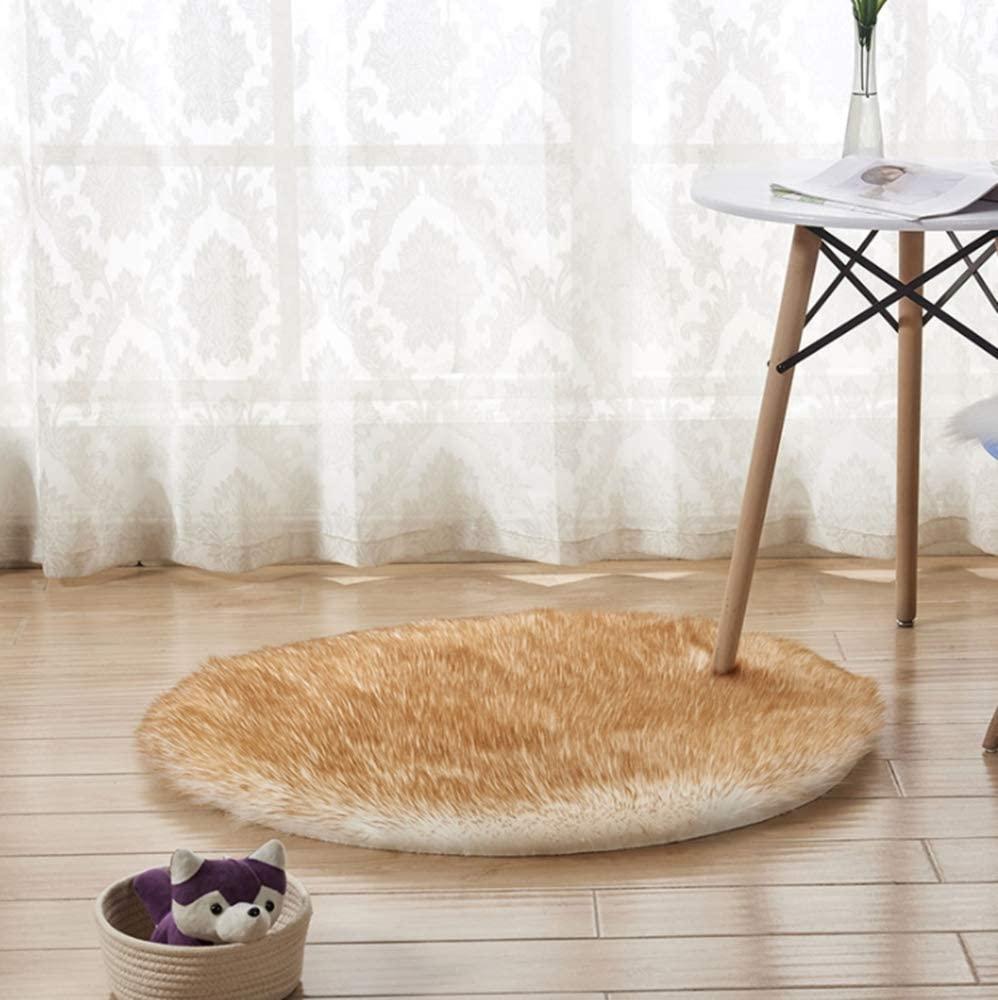 Fluppy Plush Shag Area Rugs Soft Cozy Faux Fur Luxury Rug Carpet Warm Kids Play Room Throw Rugs Home Bedroom Decor(2.6x4Ft)