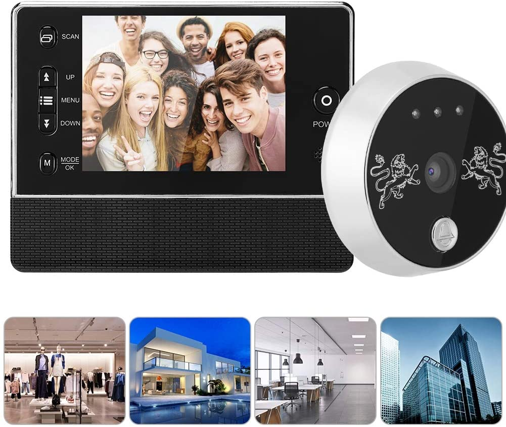 Bewinner Visual Intercom Doorbell, 3.5inch TFT Wireless Visual Doorbell Intercom Video Door Bell for Home Security,with Night Vision Infrared Function,24-Hour Security Monitoring