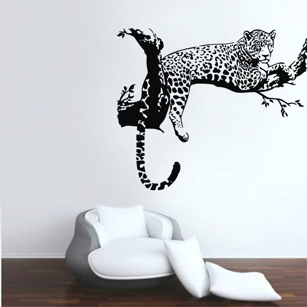 Wall Vinyl Sticker Decals Art Animal Cheetah Cat Beautiful #160