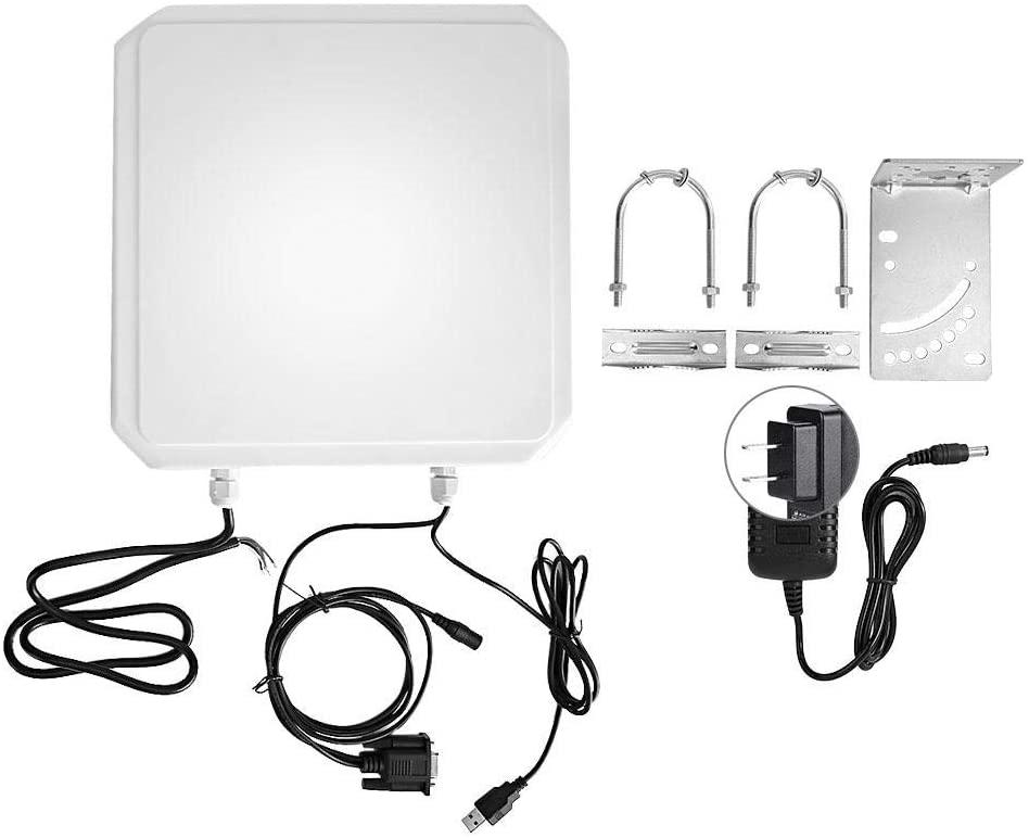 Simlug RFID Card Reader, FID USB Access Card Reader RS232/RS-485 WG26/34 for Parking Warehouse 100-240V(US Plug)