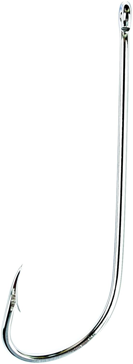 Eagle Claw 066SSAH-4 Classic Hooks Sz4, Stainless Steel, 10-Pack