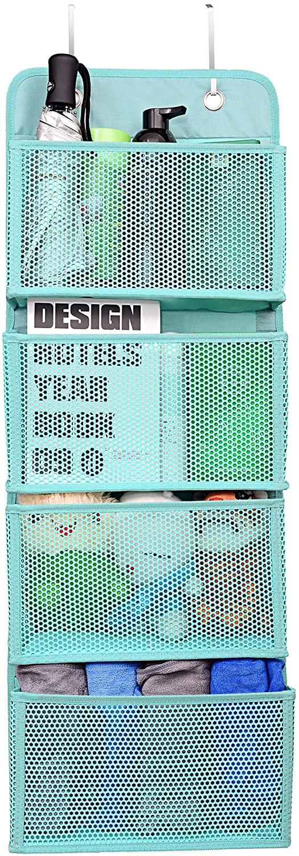 mambabydad Over The Door Hooks Organizer,New EVA Material Window Closet Cabinet Baby Storage with 4 Large Pockets,Shoe Rack Hanging Shelves Closet Organization Systems Storage Racks (Green)