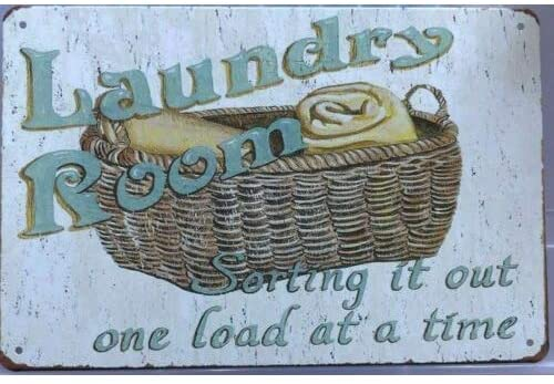 Laundry Rustic.12 X 8 Inch Tin Sign Vintage Iron Painting Metal Plate Personality Novelty