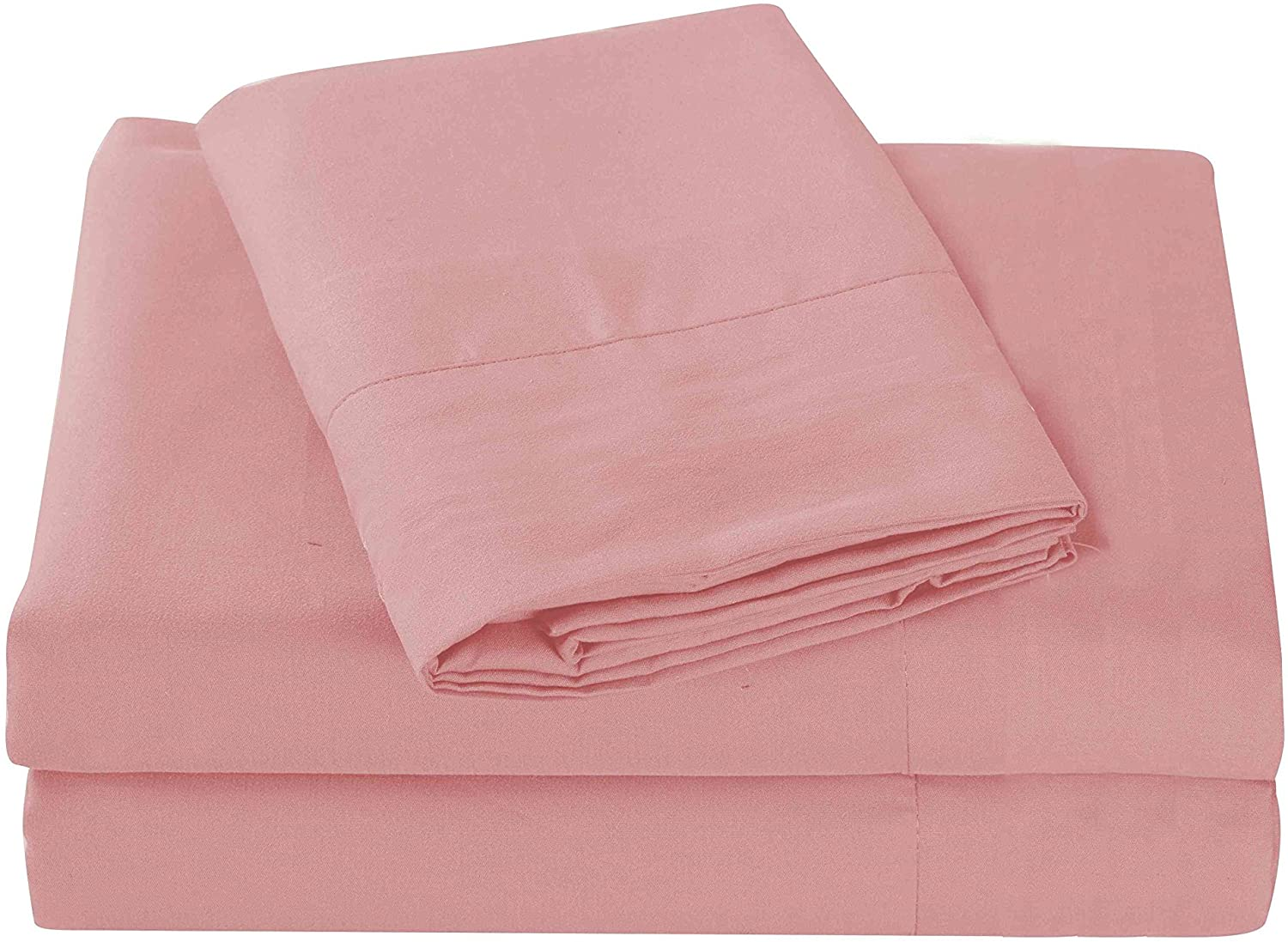 Sheets & Beyond Super Soft 1800 Series Cotton Touch Microfiber 4 Piece Sheet Set - by (Rose, Twin Size)