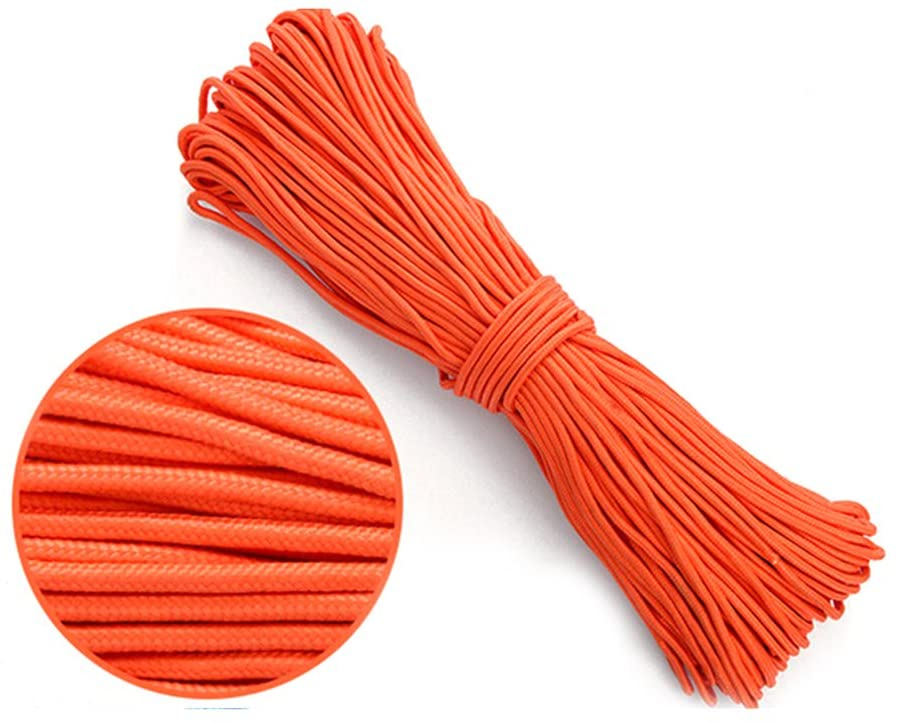 ULTNICE 4mm Braided Nylon Cord Twisted Braided Rope for Gardening DIY Project Orange