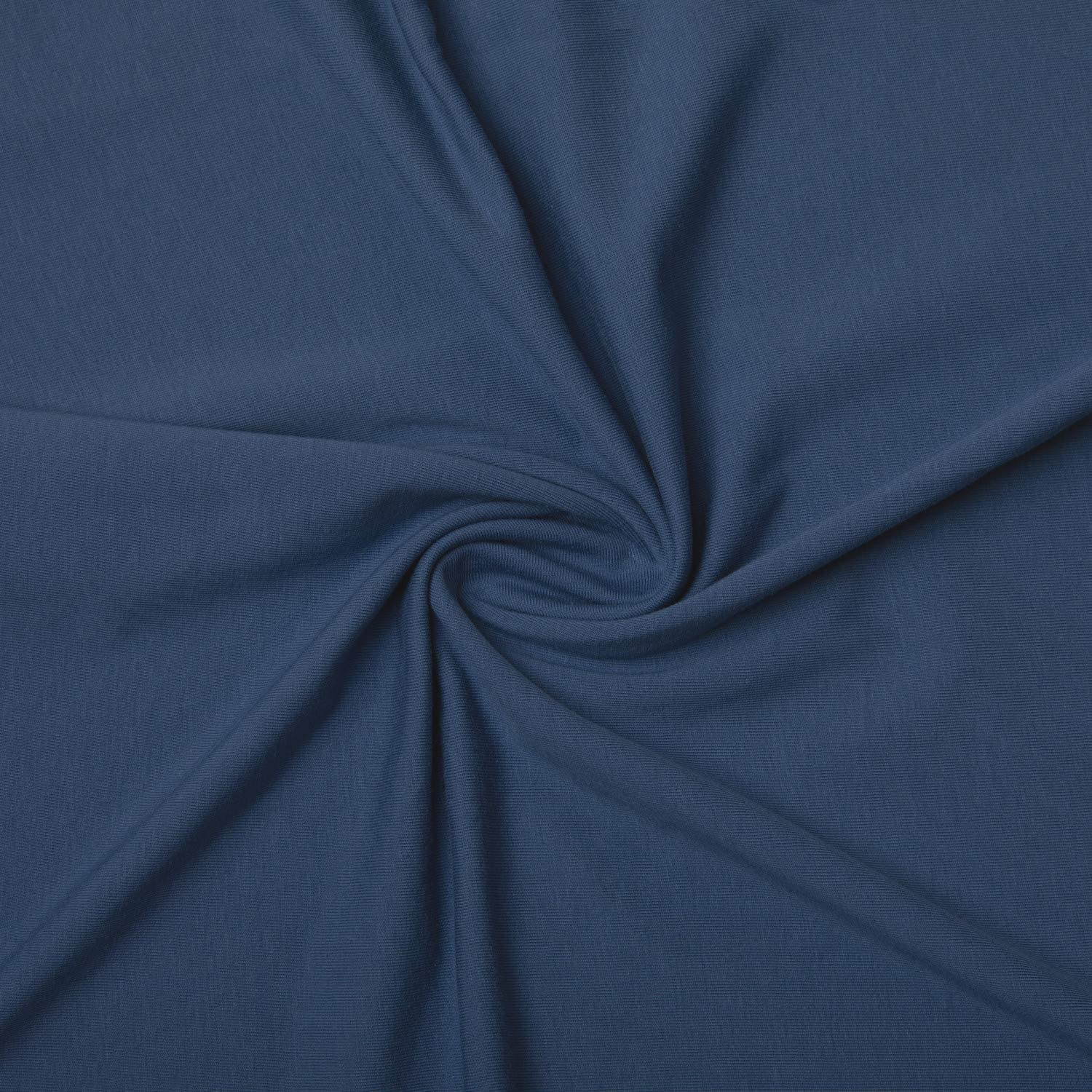 Ambesonne Jersey Knit Fabric by The Yard Dressable Soft Turkish Combed Cotton DIY, 5 Yards, Slate Blue