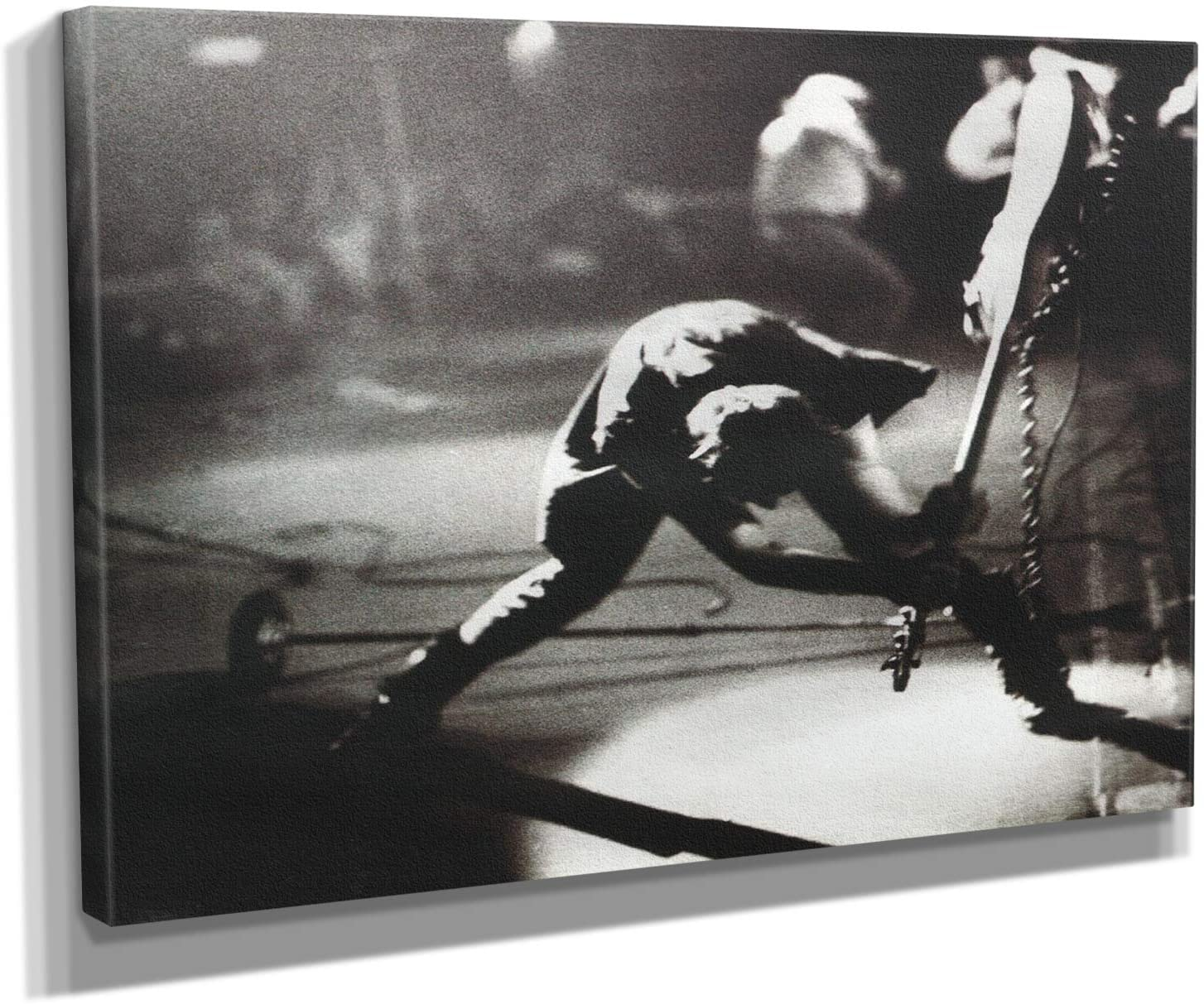 The Clash - London Calling - Canvas Wall Art Framed Print - Various Sizes (18in x 24in Gallery Wrapped)