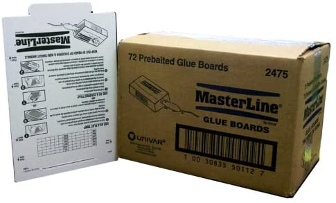 Masterline Mouse / Insect Glue Board Traps 72 Count Box Catch Mice Insects Scorpions Spiders Centipedes Lizards Etc. made by Atlantic Paste Just Like Catchmaster ~~ Trampas De Goma Pre Cebades Para Ratones (mice) y Insectos (insects)