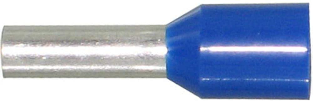 Ferrule; 12 AWG; 2; Twin Wire; Blue; 18.5 mm; 10 mm; Copper; Plastic