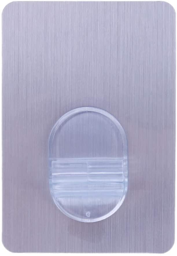 ZHIZHOU Adhesive Hanger 1 Piece Self Adhesive Stick Sticky On Door Wall Peg Hanger Holder Hook for Hanging Storage Rack Holder Silver