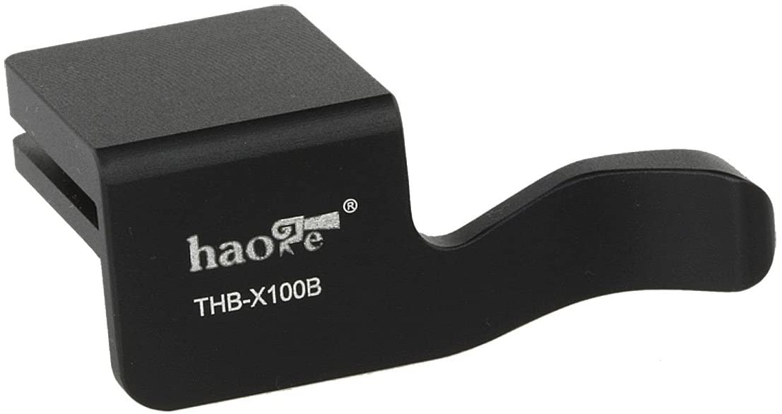 Haoge THB-X100B Metal Hot Shoe Thumb Up Rest Thumbs Up Hand Grip for Fujifilm Fuji Finepix X100 X100S Camera DSLR Black