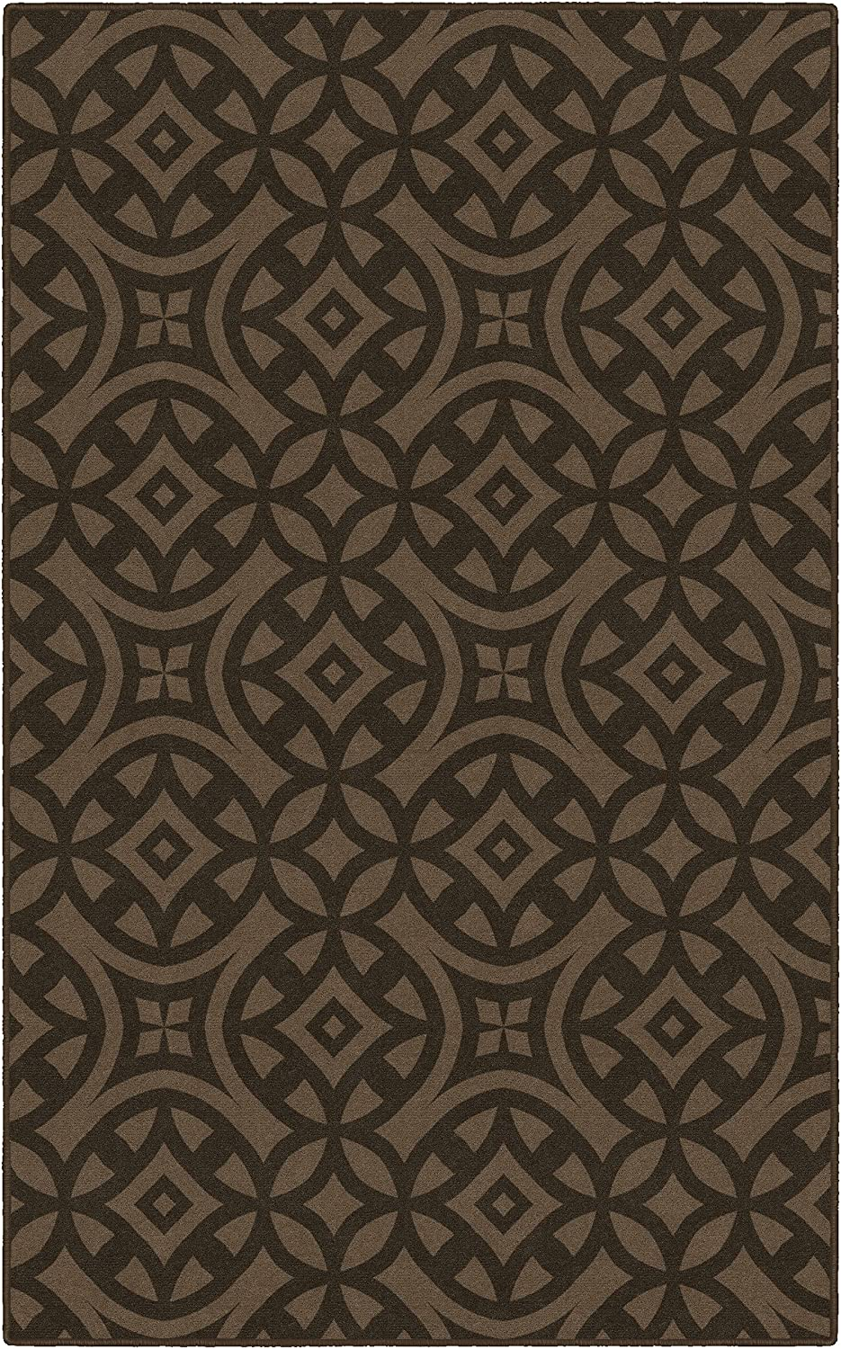 Brumlow MILLS Harper Trellis Home Indoor Area Rug with Geometric Print Pattern, Perfect for Any Living Room Decor, Dining Room, Kitchen Rug, or Bedroom Area Rug, 5' x 8', Brown (EW10197-5x8)