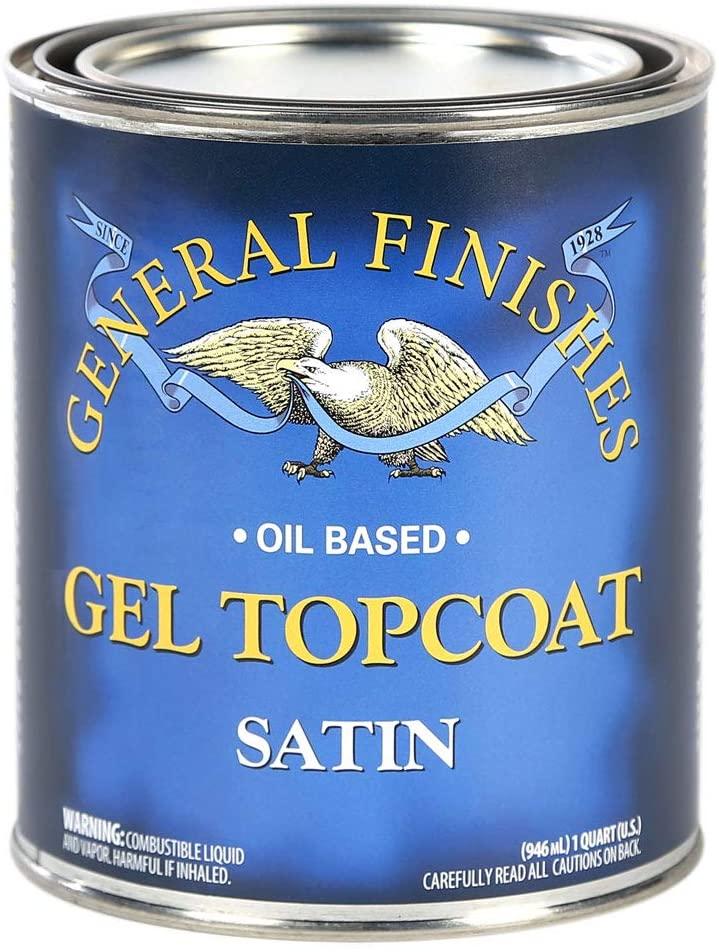 General Finishes Oil Based Gel Topcoat, 1 Quart, Satin